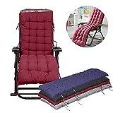 Garten Stuhl Auflage Sitzkissen & Rückenlehne Sonnenliege Kissen Pads Platz Kissen Liege Stühle Lounge Pad schwarz 155* 48* 8cm/155x 48x 8cm