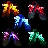 Zapatos Best Deals - iEFiEL 5 Pares de Cordones Luminosos de LED de Zapatos Zapatillos Resistente al Agua Seguro
