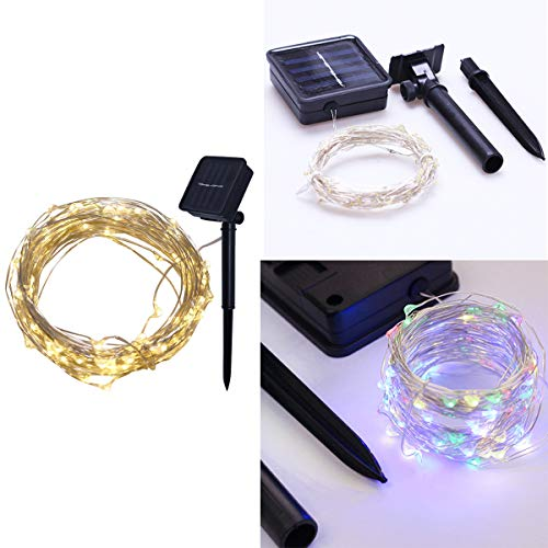 LED Micro Lichterkette Drahtlichterkette Batterie betrieben Silberdraht Warmweiß Wasserdicht String Fairy Light Batterie Lichterkette für Hochzeit im Freien saisonale Dekorationen