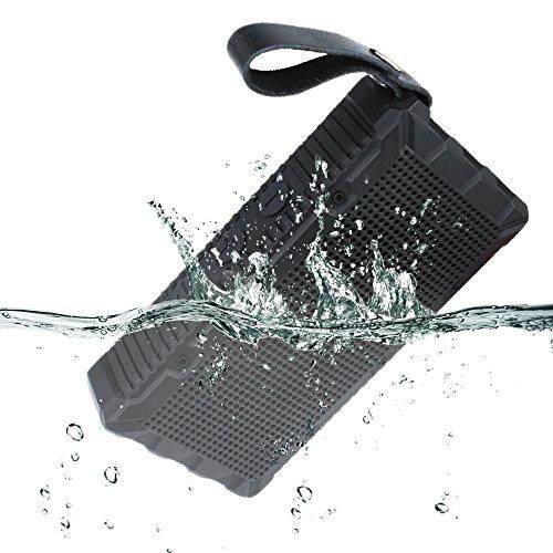 YILON My Speaker F011 Tragbarer Bluetooth-Lautsprecher Tragbarer Outdoor-Lautsprecher Waterproof-Lautsprecher Mini-Lautsprecher 5W IP67 Wasserdicht Geeignet für Reisen, Freisprechen, kompatibel mit Android, Windows, iOS Wireless-Lautsprecher (Schwarz)