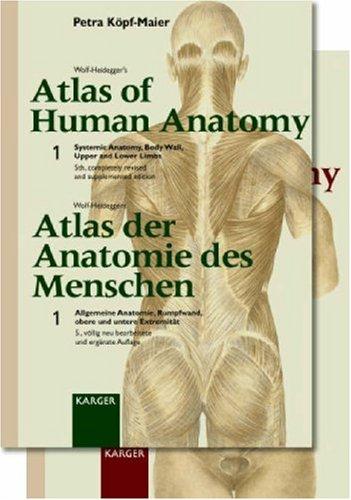 WOLF-HEIDEGER'S ATLAS OF HUMAN ANATOMY SET ( VOLUME 1 AND 2 )