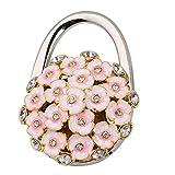 Imported 3D Folding Handbag Purse Table Hook Hanger Bag Table Holder Pink Flower