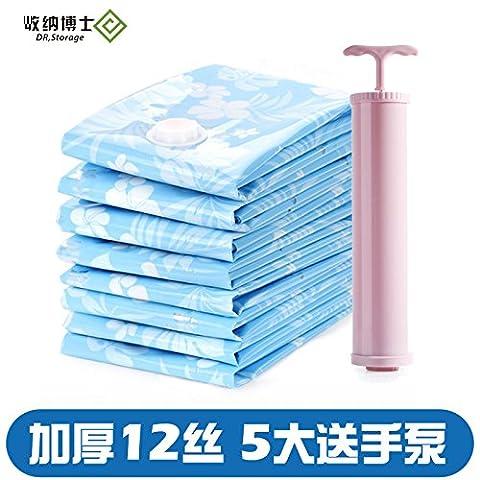 5exy-Vakuum Taschen: Stärker, höhere Qualität Space Savers; 5 Verpacken, Lagern und Schützen Kleidung, Bettwäsche & Gepäck
