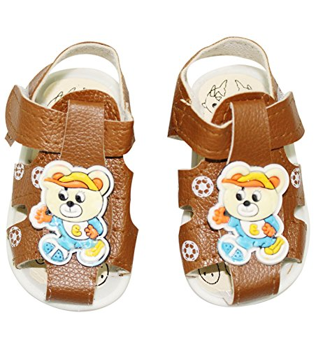 Wonderkids Sandal With Velcro Strap Brown