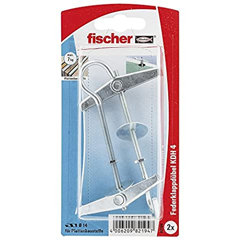 Fischer 82194 KDH 4 K Metal Spring Toggles with Threaded Rods - Multi-Colour (2-Piece)
