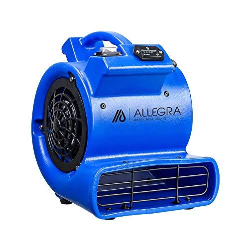 ALLEGRA Radiallüfter RL 550 Turbolüfter Lüfter Windmaschine Gebläse (Luftumwälzung 525 m³/h)