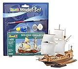 Revell Modellbausatz Schiff 1:450 - Spanish Galleon im Maßstab 1:450, Level 3, originalgetreue Nachbildung mit vielen Details, Segelschiff, Model Set mit Basiszubehör, 65899