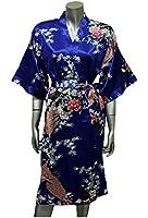 Lingerie Kimono Robe Sleepwear Gown Blue One Size