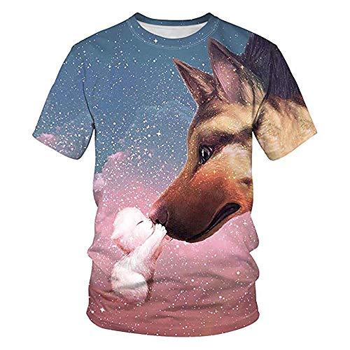 Shirts 3d Animal Tops Bedruckte S Qwwq Wild Kurzarm Herren 3xl Cosplay T Halloween rCxdWQeBo