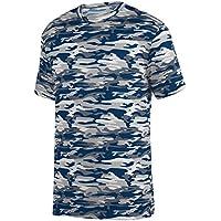 Augusta Sportswear Boys' Mod Camo Wicking Tee S Navy Mod