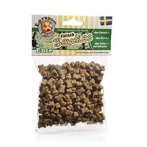 Larsson Fleisch-BENTIES Kauartikel - Fleisch-Ente Hunde Snack Leckerlie, 150 g -
