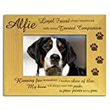 Dog Memorial Bereavement Photo Frame, Personalised Engraved, Stunning Solid Wood, \