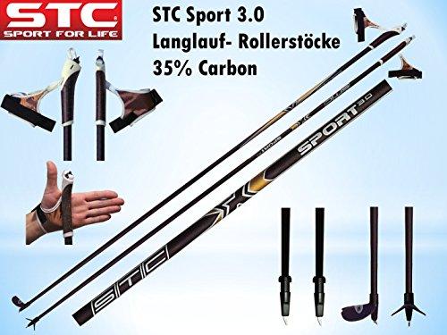 STC Sport 35{986f7480351441b984858b9596505ab92907ea3207d27dd55df24dcbf4b86a32} Carbon Langlauf Stock Skating Nordic Blading Roller Stöcke Skike (155 cm)