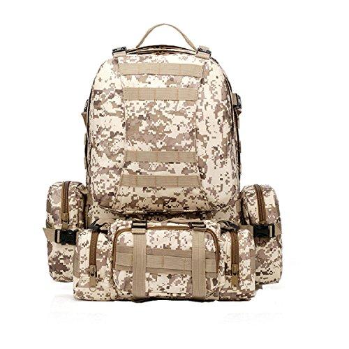 Yy.55Lf Outdoor-Klettertasche Multifunktionsbeutel Sie Können Miteinander Verbunden Taschen Schultern Werden Militär Taktische Tarnung Rucksack. Multicolor A