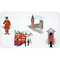 Tatkraft London City Alfombrilla de baño de ducha de baño alfombra antideslizante Felpudo 50x 80cm Ultra suave