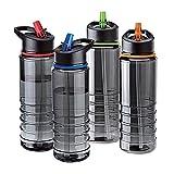 AAJ Flip Straw Tritan Drinks Sport Hydration Water Bottle 700ml Cycling Hiking BPA-Free [IMPROVED QUALITY]
