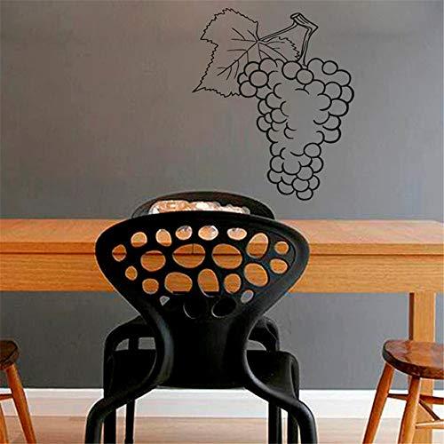 yiyiyaya Weintraube Obst Wandaufkleber Kunstwand Küche Cafe Home Interior Design Wand Vinyl Aufkleber Aufkleber rot 44x33cm