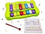 Beby 2-in-1 Xylophon und Klavier musikinstrumente Spielsachen mit Schlägel und Lied Laken fürs Baby Kinder Kleinkinder