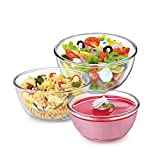 #4: Cello Ornella Borosilicate Glass Mixing Bowl Set, 3-Pieces, Clear