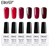 Elite99 Smalto Semipermente per Unghie in Gel UV LED 6pzs Colori Kit per Manicure Smalti Gel per Unghie Soak Off 10ml - Set 002