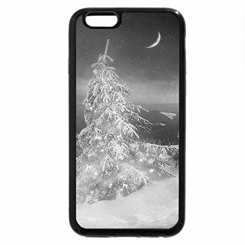iPhone 6S Plus Case, iPhone 6 Plus Case (Black & White) - Xmas Tree in my Heart (White Xmas Tree)