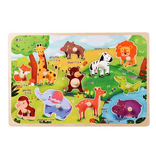 YeahiBaby Puzzles de Madera Puzzles Elefante Animal Puzzle clásico Ver Dentro