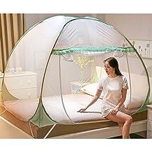Tenda della zanzariera che ripara l'installazione libera reticolato Tende del baldacchino con una porta Anti morsi della zanzara per gli adulti del bambino viaggio all'aperto dimensione completa ( Colore : Verde , dimensioni : 1.8m (6ft) )