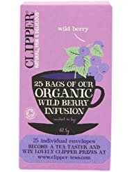 Clipper Organic Infusion Wild Berry Enveloped 25 Teabags 62.5 g (Pack of 6)