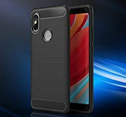 Bracevor Redmi Y2 Back Case Cover | Flexible Shockproof TPU | Brushed Texture - Black