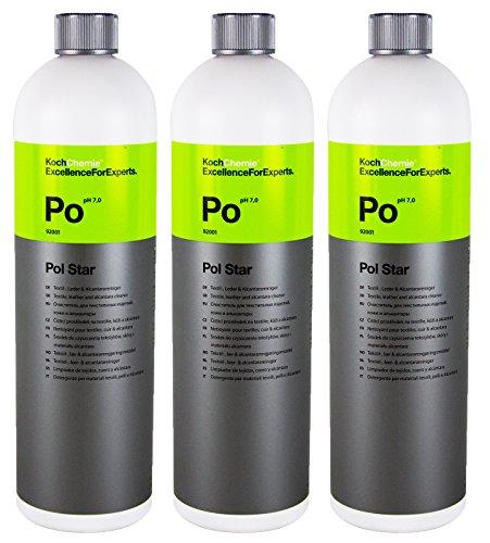 Koch Chemie 3x Po Pol Star Textilreiniger Lederreiniger Alcantarareiniger 1 L