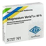 Magnesium Verla i.v. 50% Infusionslösungskonzentrat, 5 St. Ampullen