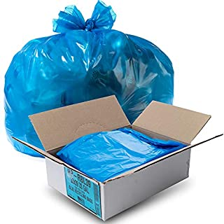 Aluf Plastics HP-RBL55 HP Blue Low Density Super Hexene Star Seal Gang Folded Bag, 55-60 Gallon Capacity, 55