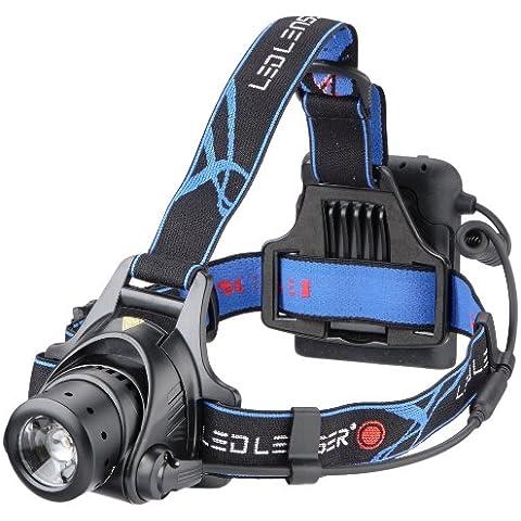Led Lenser H14 - Linterna (Headband flashlight, AA, Negro, Azul)