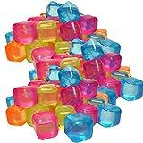 50 Eiswürfel Party wiederverwendbar Eiswürfelform bunt Kunststoff Dauereiswürfel