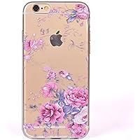 para la Cubierta de la Caja del teléfono iPhone 6 / iPhone 6S, HengJun Tótem Transparente TPU Gel de Silicona para teléfono Inteligente iPhone 6 / iPhone 6S - Rosa Rosada