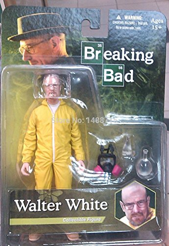 yz TV Play Breaking Bad Walter White Hazmat Collectiible Figure Yellow Suit Original Box (Tails Doll Costume)