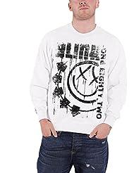 Blink 182 écrit logo Sweat-shirt pour homme Blanc