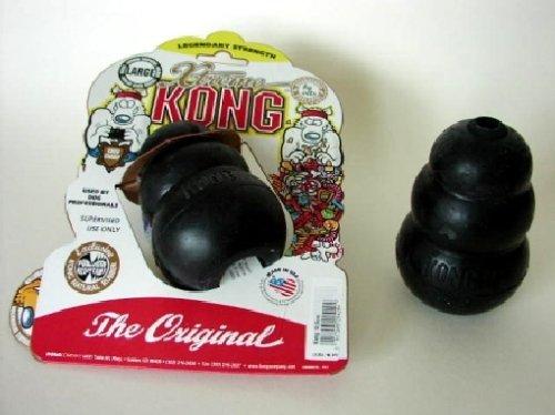 Kong - Juguete para perro (10,5 cm), color negro