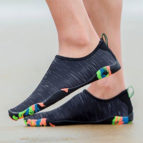 Sapatos Praia Dogeek Surf Badeschuhe Sapatos Sapatos Água Aqua Para Do Senhoras Com Homens Negras Sapatos De De Antiderrapantes Crianças De Solas 5EqxY