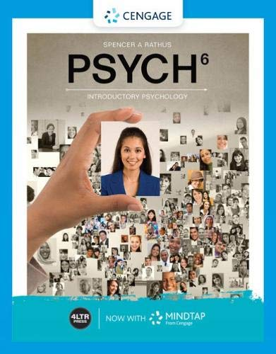 Psych (with Mindtap, 1 Term Printed Access Card) (Mindtap Access Card Psychologie)