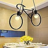 Ceiling Lamp Home Nordico e Americano personalità Creativa Bicicletta lampadario Cafe Art Ristorante Camera dei Bambini corridoio corridoio Camera da Letto Lampada (Size : Whitelight)