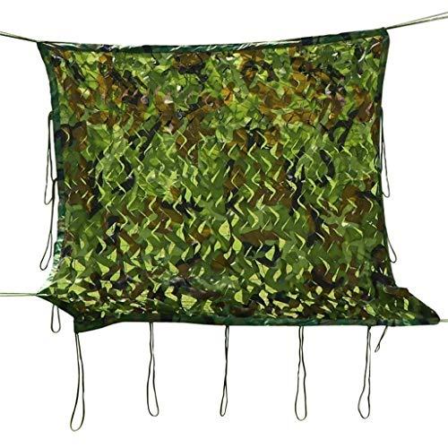 QDY-Voiles d'ombrage Grünes Tarnnetz Sun Mesh Sunblock Shade Tuch UV-beständiges Netz für Gartenblume Pflanze Gewächshaus Scheune Zwinger Pergola Carport