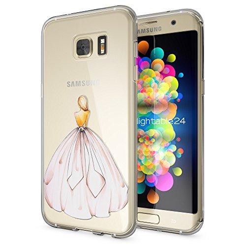 delightable24 Hülle für Samsung Galaxy S8 Plus Schutzhülle Silikonhülle Cover Case TPU Silikon Handyhülle, Designs:Princess Pink