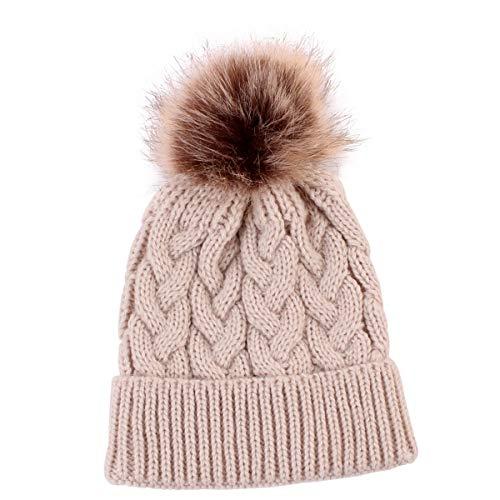 7591890bef4 Yinuoday Baby Knit Hat Cap Winter Warm Wool Infant Toddler Kids Crochet  Beanie Cap New (