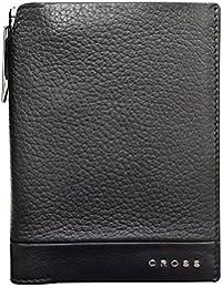 CROSS Men's Genuine Leather Global Passport Wallet With Cross Pen Nueva FV Range - Black (AC028389-1)