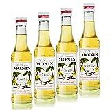4x Monin Vanille / Vanilla Sirup, 250 ml Flasche