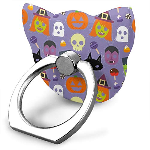 magic ship Costumes Masks and Halloween Candy Ring Stand 360°Rotation Thin Universal Phone Ring Holder Transparent Finger Ring Tablets cat Shape