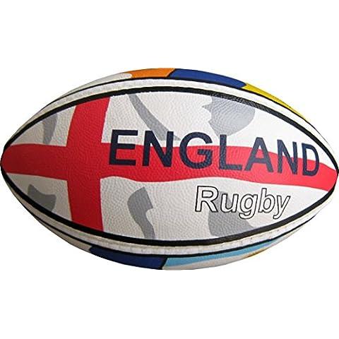 Diseño de bandera de país 6pulgadas Mini habilidad pelota de rugby con bomba de inflar gratis. Mejor Vendedor