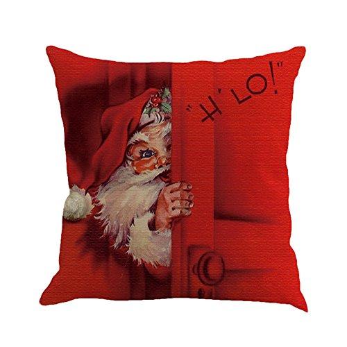 Lucky Mall Weihnachtsdruck Mode Färben Kissenbezug, Sofa Bett Home Decor Kissenbezug Kissenbezug
