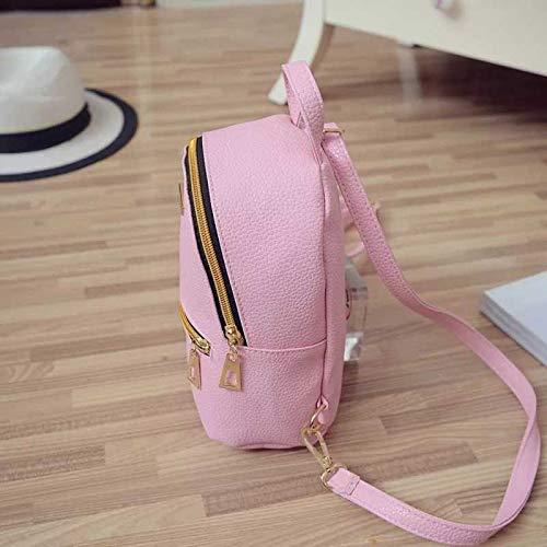Best mini backpacks for girls in India 2020 JSPM® PU Leather Mini Backpack School Bag Student Backpack Women Travel bag Tuition Bag Backpack (Pink SP-0342) Image 2